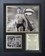11x14 FRAMED 1952 ADVENTURES OF SUPERMAN CAST 8X10 PHOTO CLARK KENT REEVES