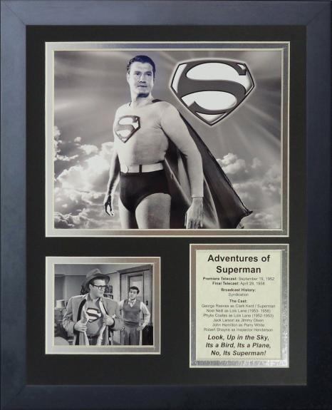 11x14 FRAMED 1952 ADVENTURES OF SUPERMAN CAST 8X10 PHOTO CLARK KENT REEVES