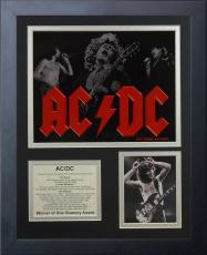 11x14 FRAMED AC/DC ALBUM LIST BON SCOTT BRIAN JOHNSON PHIL RUDD 8X10 PHOTO 1973