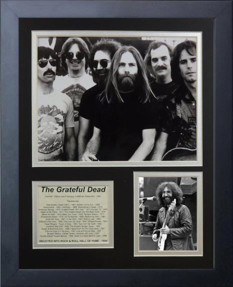 11x14 FRAMED JERRY GARCIA THE GRATEFUL DEAD BAND HOF 1994 ALBUM LIST 8X10 PHOTO