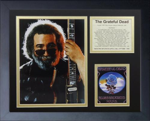 11x14 FRAMED JERRY GARCIA THE GRATEFUL DEAD FOUNDED 1965 ALBUM LIST 8X10 PHOTO