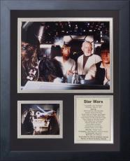 11x14 FRAMED STAR WARS 1977 HARRISON FORD CAST LIST LUKE SKYWALKER 8X10 PHOTO