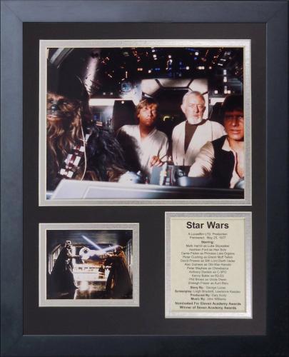 11x14 FRAMED STAR WARS 1977 HARRISON FORD CAST LIST LUKE SKYWALKER 8X10 PHOTO