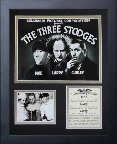 11x14 FRAMED THREE STOOGES MOVIE 8X10 PHOTO MOE CURLEY LARRY COLLAGE
