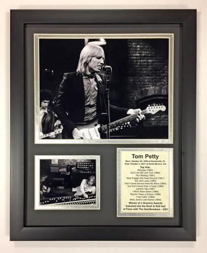 11x14 FRAMED TOM PETTY B&W TOP HITS ROCK AND ROLL HALL OF FAME 8X10 PHOTO
