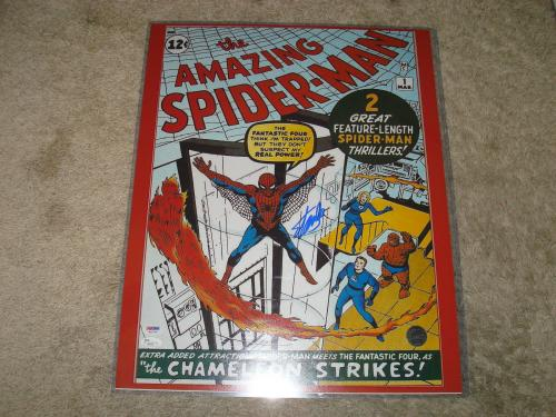Stan Lee Signed The Amazing Spider-Man 16x20 Photo PSA/DNA & JSA COA Auto. 1A