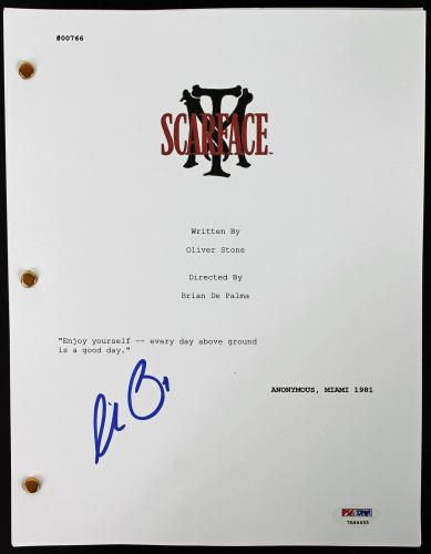 Al Pacino Signed Scarface Movie Script PSA/DNA ITP #7A44455