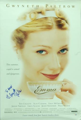 "Gwyneth Paltrow Signed Autographed 40x27 ""Emma"" Movie Poster PSA DNA COA"