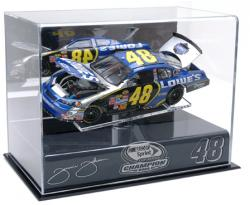 Jimmie Johnson 2009 Championship 1/24th Die Cast Display Case with Platform - Mounted Memories