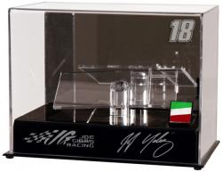 J.J. Yeley 1:24 Die Cast Display Case with Platform and Race Used Metal