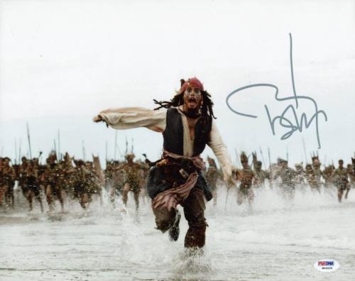 Johnny Depp Signed 11X14 Photo W/ Graded 10 Autograph! PSA/DNA #W04429