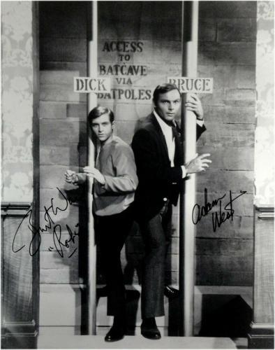 Adam West Burt Ward Dual Signed Autographed 16x20 Photo Batman Robin Batpole JSA