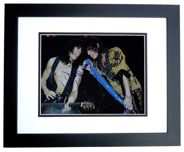 Joe Perry Signed Picture - Steven Tyler 11x14 Aerosmith BLACK CUSTOM FRAME