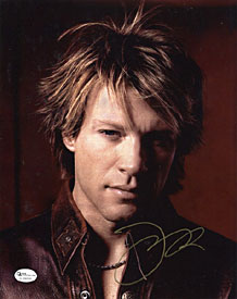 Jon Bon Jovi Autographed Celebrity 8x10 Photo