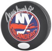 New York Islanders Mike Bossy Autographed Puck - - Mounted Memories