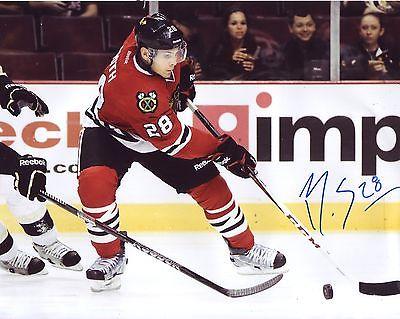 Signed Ben Smith Photograph - *CHICAGO BLACKHAWKS* 8x10 Hockey W COA #2