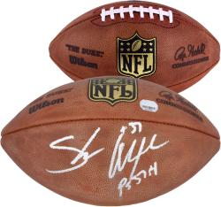 Seattle Seahawks Shaun Alexander Signed Authentic Football - Mounted Memories