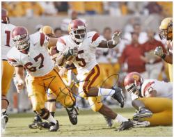 """Reggie Bush USC Trojans Stiff Arm 16"""" x 20"""" Autographed Photograph"""