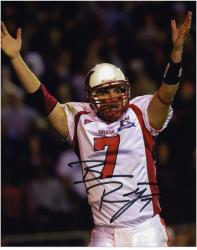 Ben Roethlisberger Miami University RedHawks 8'' x 10'' White Jersey Arms in Air Autographed Photograph - Mounted Memories