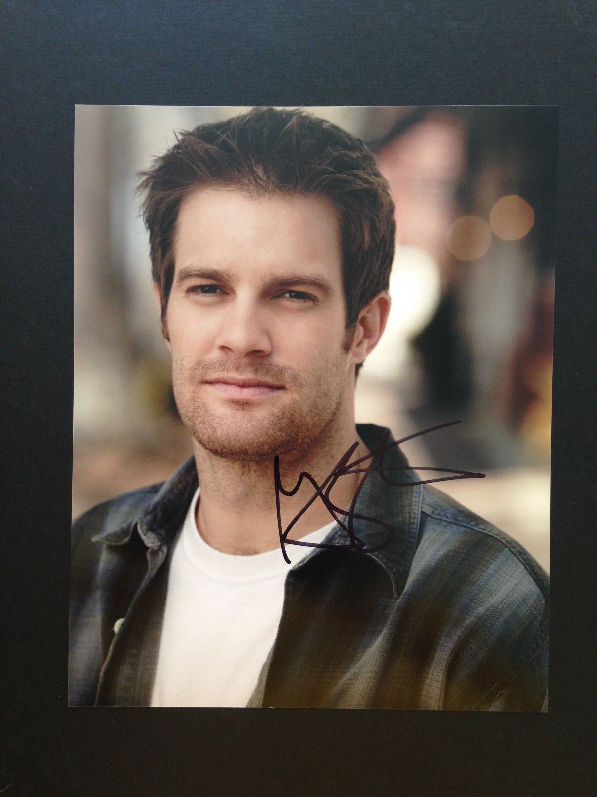 Geoff Stults Signed 8x10 Photo Autograph Enlisted The ... Geoff Stults Enlisted