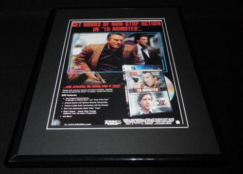 15 Minutes 2001 Framed 11x14 ORIGINAL Advertisement Robert De Niro