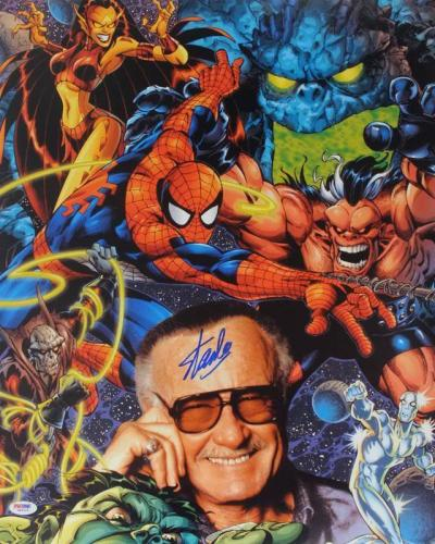 Stan Lee Signed Spider-Man 16X20 Photo Marvel Comics PSA/DNA 13
