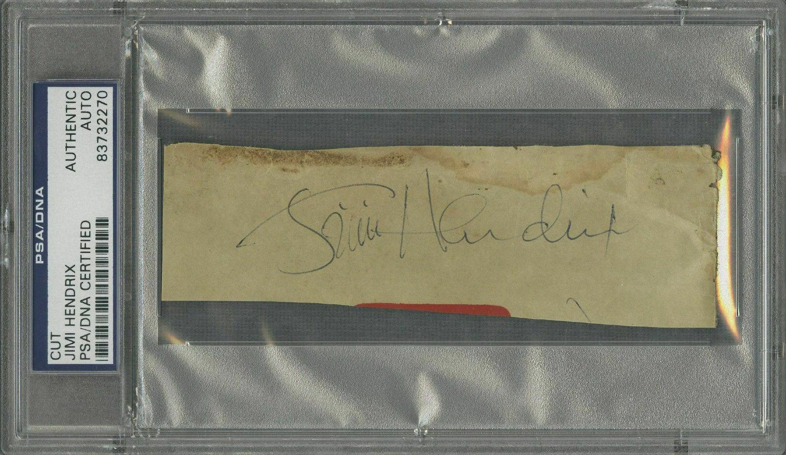 Jimi Hendrix Signed Autographed 1x3 Album Page PSA/DNA Authentic