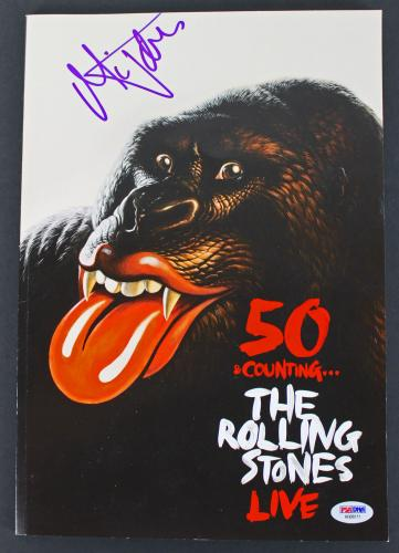 Mick Jagger Rolling Stones Signed 50 & Counting Tour Program Book PSA #AB08111