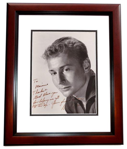 Elvis Presley Autographed Photo - Nick Adams 8x10 MAHOGANY CUSTOM FRAME Deceased Actor 1968) - The REBEL Friends James Dean