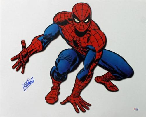 Stan Lee Signed Spider-Man 16X20 Photo Marvel Comics PSA/DNA 5
