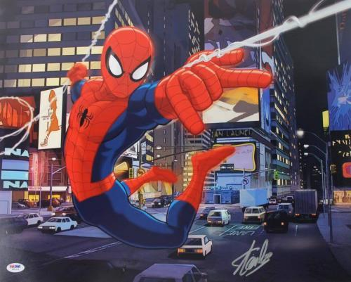 Stan Lee Signed Spider-Man 16X20 Photo Marvel Comics PSA/DNA 6