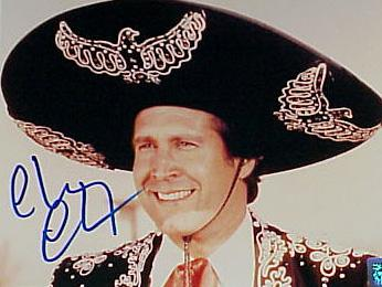 Chevy Chase Signed Photograph - 8 X 10 3 AMIGOS