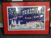 (17) 2001 Y-100 Feastival Multi-Signed Framed 11x17 Poster Auto PSA/DNA AA06297