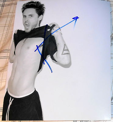 Jared Leto Signed Autograph 30 Seconds To Mars No Shirt Ripped Stud Photo Coa