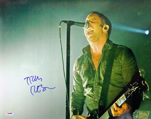 Trent Reznor Signed 16x20 Photo Graded Gem Mint 10! Psa/dna Authenticated V17972