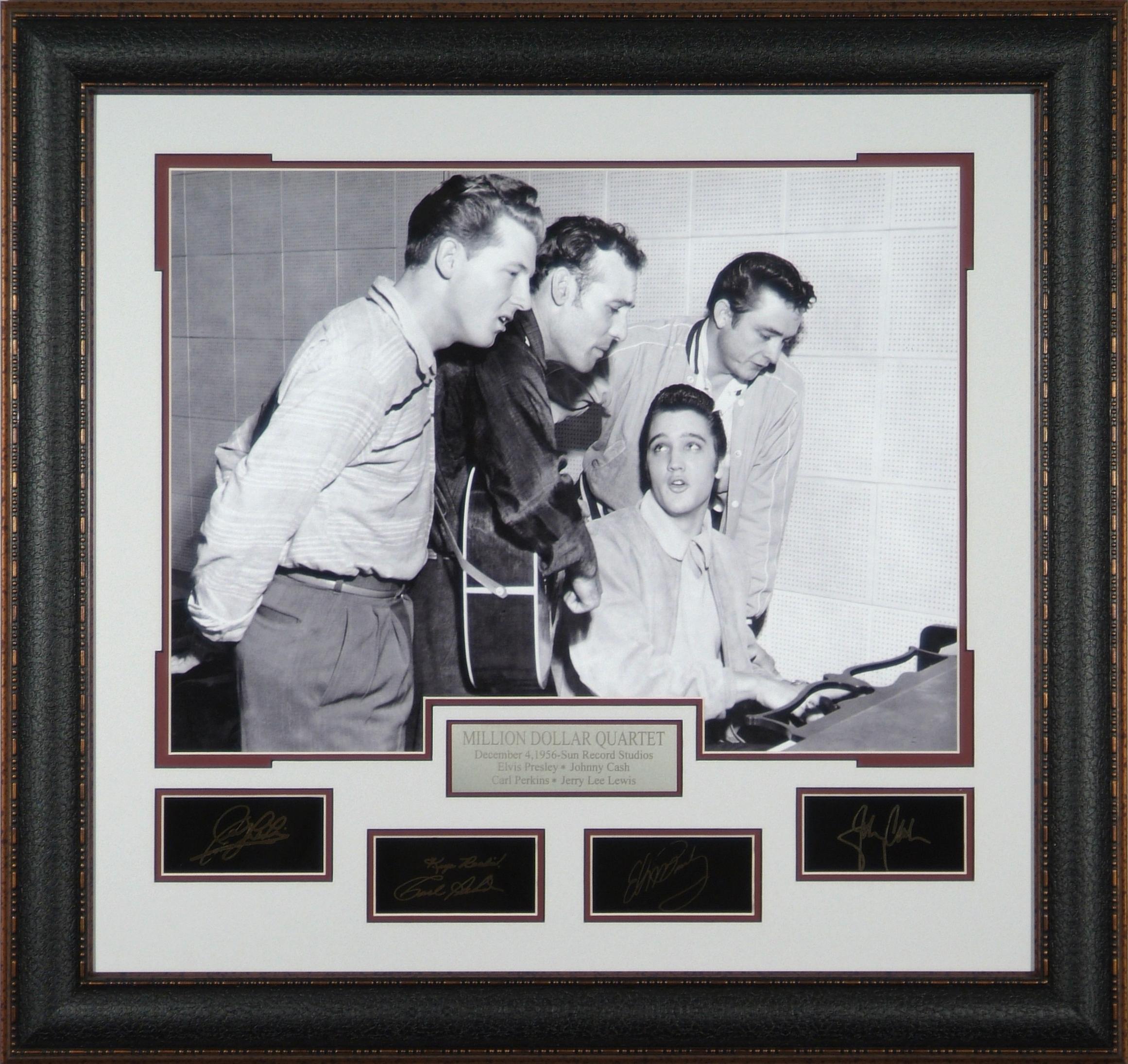 Million Dollar Quartet Laser Autographed Framed Photo