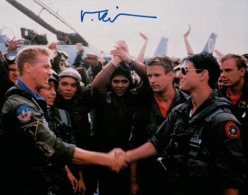 Val Kilmer Signed Autographed 8X10 Photo Top Gun Iceman on Carrier JSA