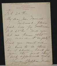 1800's Minnie Maddern Fiske, Signed Hand Written Letter on NY Dramatic Mirror LH