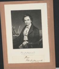 1840's  William H. Haywood Jr., Cut Signature Affixed to Paper Photo