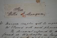 1842 William P. Mangum, Hand Written Letter w/Free Frank Cut Signature
