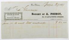 1861 Civil War Era Ephemera Dealer in Flour Receipt