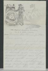 1862 Civil War 4 Page Letter, Brother to Sister, 18th Regiment Conn. Volunteers