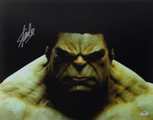 Stan Lee Signed The Hulk 16X20 Photo Marvel Comics Autograph PSA/DNA 1
