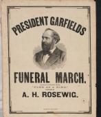 1881 President Garfield's Funeral March Sheet Music Composed by A.H. Rosewig