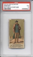 1886 N16 Allen & Ginter GERMANY PSA 3 Natives on Costume