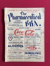 """1899, Coca-Cola, """"Pharmaceutical ERA"""" Magazine (RARE)"""