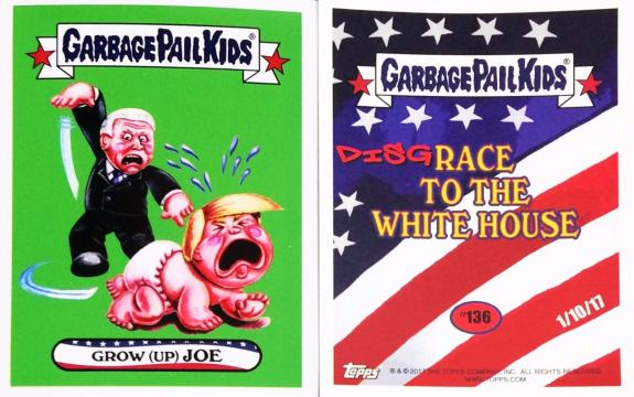 19 45th President Donald Trump Grow (Up) Joe 2017 Topps Garbage Pail Kids # 136