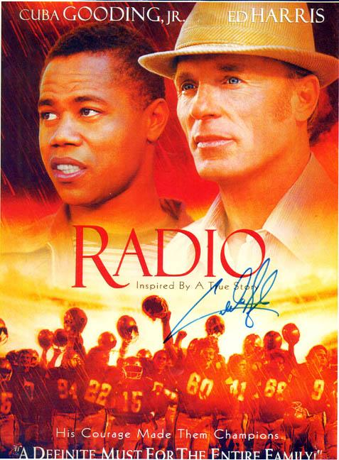 cuba gooding jr autographed signed radio 11x15 photo aftal