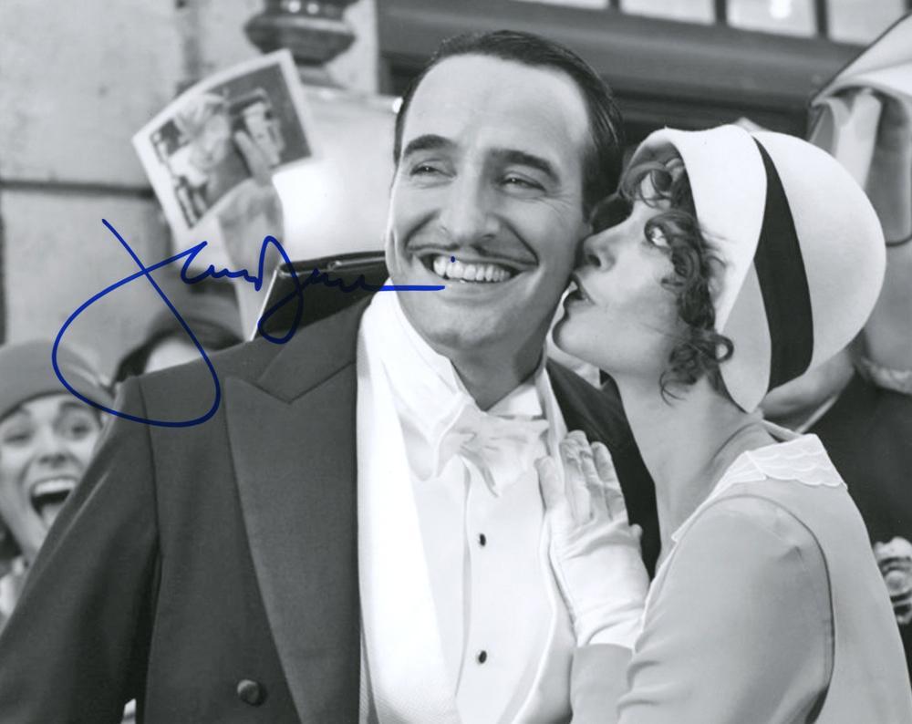 Jean dujardin autographed signed photo uacc rd coa aftal for Jean dujardin autographe