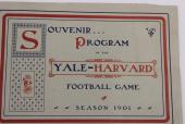 1901 Harvard Yale Football Program The Game 11/23/01 Harvard National Champs